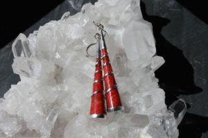 Schaumkoralle Ohrring
