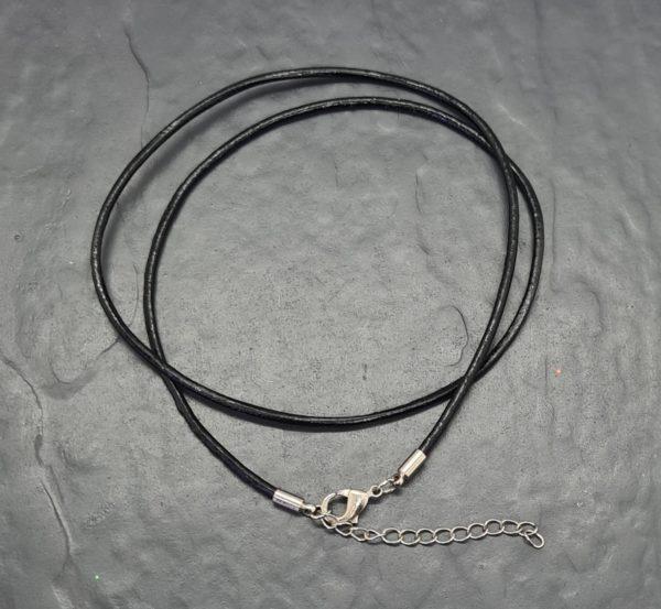 Lederband schwarz mit Verschluss